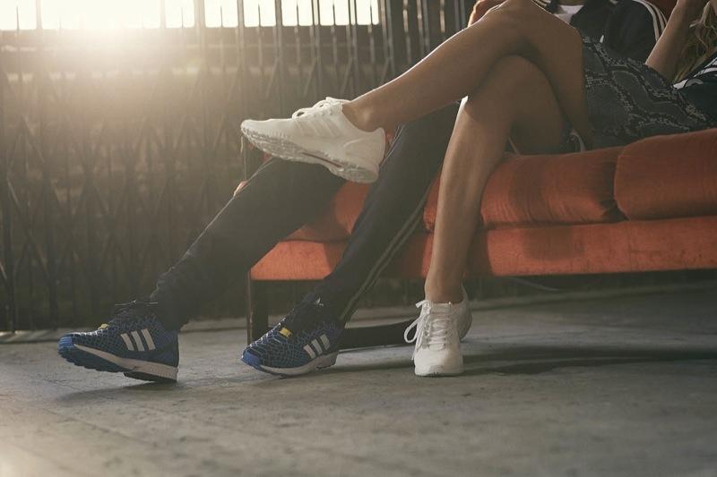 buty adidas zx flux biale niebieskie